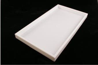 White Standard Full Size Plastic Stackable Utility Tray (2.5cm deep)BD1-1PW