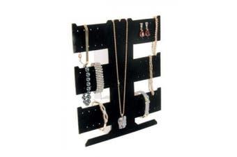 Black Velvet Flocked Earring Necklace Bracelet Display (BD255)