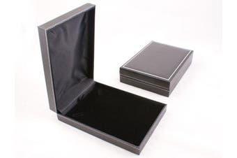 Jet Leatherette Necklace Box