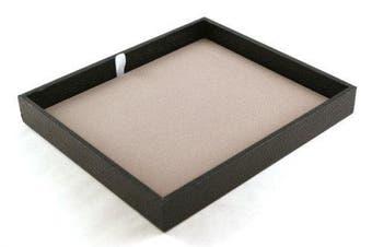 1 x Black Textured Utility Tray with Grey Velvet Display Pad