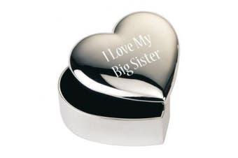 """I Love My Big Sister"" Engraved - Heart Trinket/Jewellery Box"