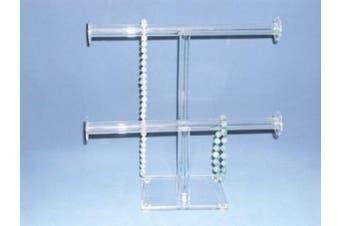Acrylic Bangle / Bracelet Double T-Bar Stand Wide (BD1330)