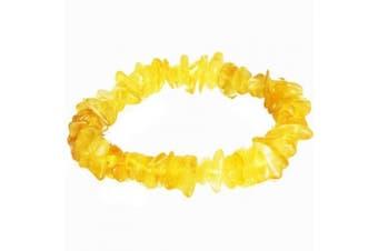 Golden Baltic Amber Chips/Beads Bracelet. Genuine Baltic Amber