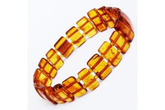 Honey Amber Stretch Bracelet. Comes with lovely gift box.