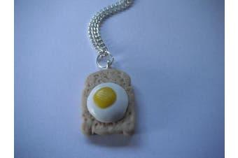 Egg On Toast Necklace