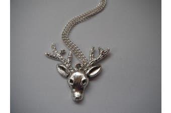 Deer Head Woodland Necklace
