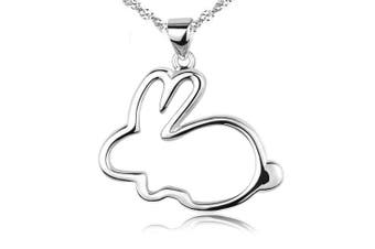 findout Fashion simple small white rabbit sterling Silver Necklace(290)
