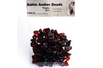 Polished Cherry Baltic Amber Beads with holes, Weight: 10 gramme, Size: +3mm-8mm, Amber Colour: Cherry, Materials: Baltic Amber, Each amber bead contains a hole so it is ready for jewellery making.