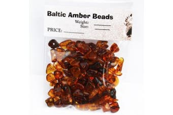 Polished Cognac Baltic Amber Beads with holes, Weight: 10 gramme, Amber Size: +3mm-8mm, Amber Colour: Cognac, Materials: Baltic Amber, Each amber bead contains a hole so it is ready for jewellery making.