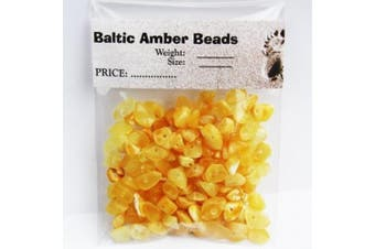 Polished Butterscoth Baltic Amber Beads with holes, Weight: 10 gramme, Amber Size: +3mm-8mm, Amber Colour: Butterscoth-Milky, Materials: Baltic Amber, Each amber bead contains a hole so it is ready for jewellery making.
