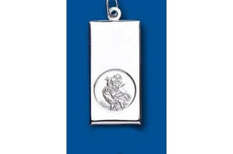 Unique Wishlist Sterling Silver Large Ingot St.Christopher - Pendant Only