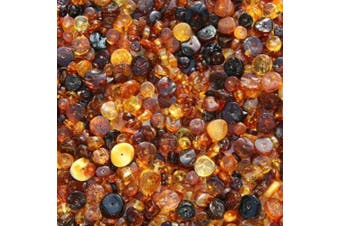 Polished Discs Baltic Amber Beads with holes. Beads are ready for jewellery making. approx. 10 beads in 5 grammes