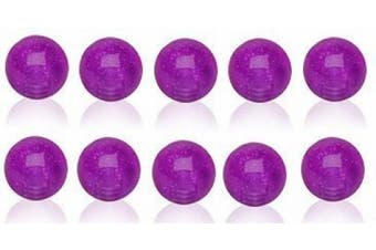10 X Purple Spare Balls Glow in the Dark ( Under UV Light ) 1.2mm x 4mm Eyebrow / Tragus / Cartilage Earring size
