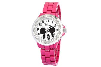 Disney Women's Mickey Mouse Enamel Sparkle Bracelet Watch