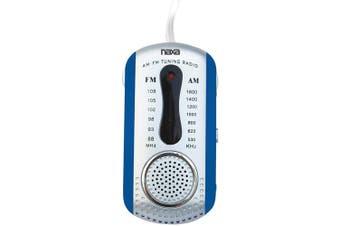Naxa NR721 AM/FM Mini Pocket Radio with Speaker, Blue