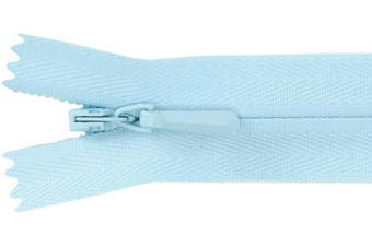 (23cm , Blue) - American & Efird 309-542 Unique Invisible Zipper 9 inch-Baby Blue