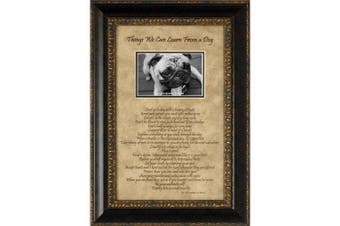 Artistic Reflections Things We Can Learn from a Dog Photo Frame
