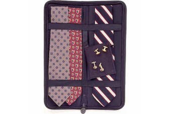 (black) - Household Essentials Travel Tie Case, Black