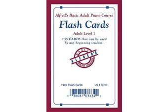 Alfred's Basic Adult Piano Course Flash Cards: Level 1, Flash Cards (Alfred's Basic Adult Piano Course)