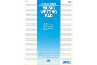 12 Stave Music Writing Pad: Loose Pages (3-Hole Punched for Ring Binders)