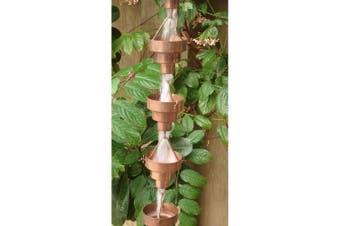 Monarch 2.6m Copper Bamboo Cup Rain Chain