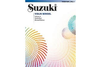 Alfred 00-0150S Suzuki Violin School Violin Part- Volume 4 - Music Book