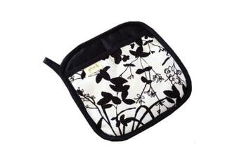 A Greener Kitchen Organic Cotton Pot Holder B and W Whispering Grass