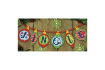 Dimensions Jingle Banner Felt Applique Kit, 90cm x 17cm