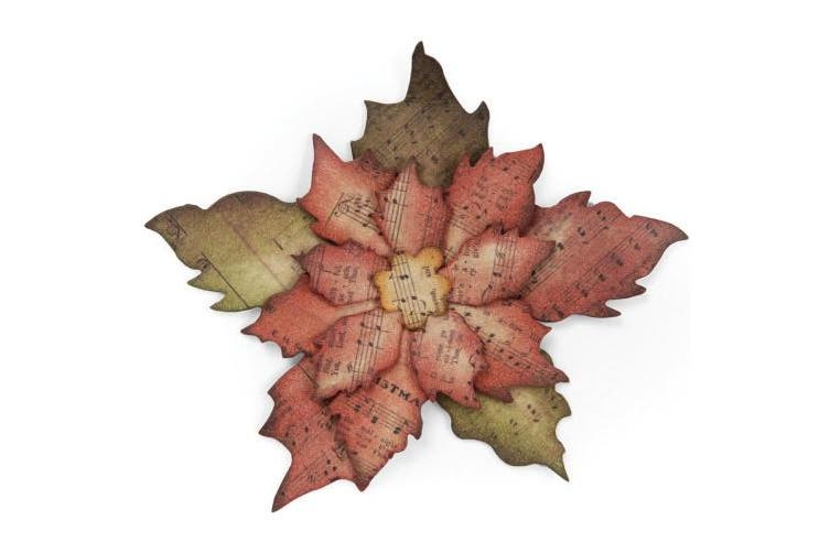 Sizzix Bigz Die by Tim Holtz Alterations, Tattered Poinsettia