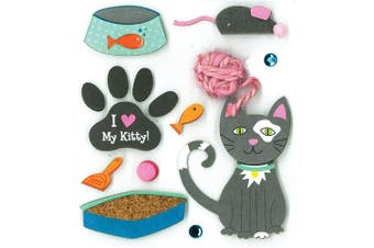 K & Company Kitty Love Grand Adhesions Stickers