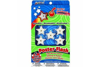 Reusable Poster Flash Star LED Lights 5/Pkg