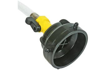 Camco Sewer Hose Rinser With Power Jet Cleaning Action and Shut-Off Valve- Clean Out RV Sewer Hoses With Any Standard Water Hose Connection (39533)