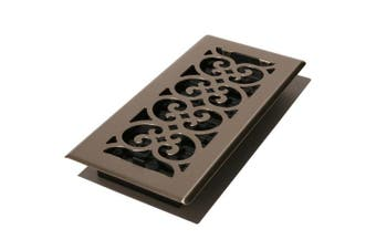 (Brushed Nickel Finish) - Decor Grates Scroll Floor Register