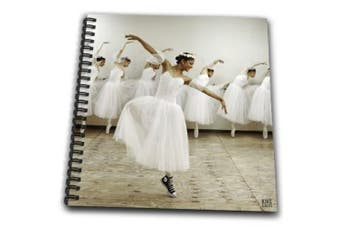 (8x8 drawing book) - Kike Calvo Dance - Happy ballet dancer with a romantic dress yet wearing converse snickers,the joy of being different - Drawing Book