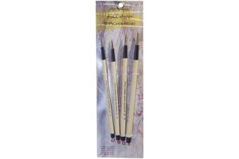(Bamboo Style) - Art Advantage Brush Set, 4-Piece