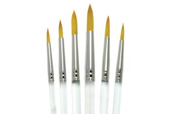 Aqualon Royal and Langnickel Short Handle Paint Brush Set, Round, 6-Piece