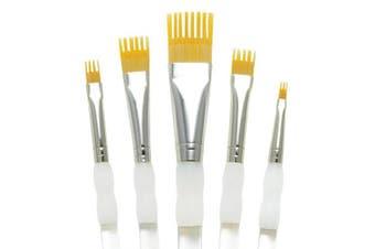 (Flat) - Aqualon Royal and Langnickel Wisp Short Handle Paint Brush Set, Flat, 5-Piece