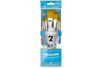 Aqualon Royal and Langnickel Short Handle Paint Brush Set, Filbert, 7-Piece