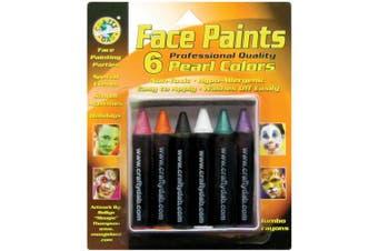 (Pearl) - Face Paint Jumbo Crayons 6/Pkg