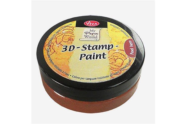 (Walnut Brown) - Viva Decor 119390536 3D Stamp Paint, Walnut Brown