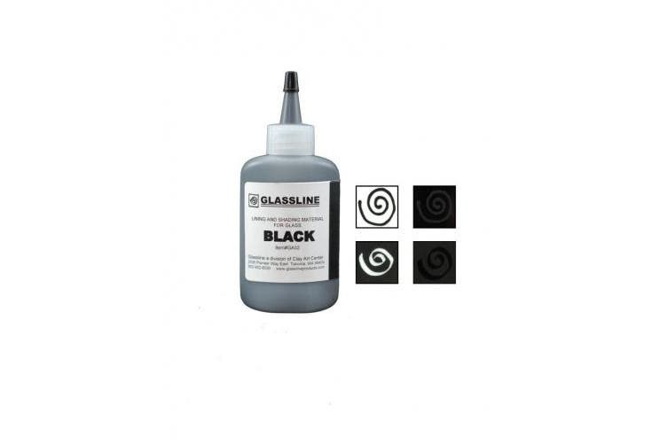 Black GLASSLINE FUSING PAINT PEN 60ml Bottle
