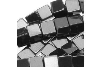 (3.5 to 4mm, Black) - Beadaholique Hematite 3.5-4mm Square Cube Beads Metallic Grey/16 Inch Strand, 3.5 to 4mm