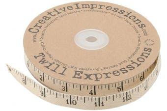 (25-Yard, Original Version) - Creative Impressions Printed Twill .375' .5' X 25 Yards Antique Ruler
