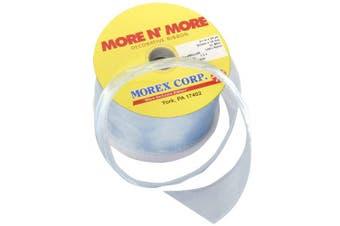 (6.4cm  x 20-Yd, Lt. Blue) - Morex Ribbon Wired 6.4cm Chiffon Ribbon with 20-Yard Spool, Light Blue