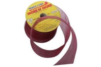 (6.4cm  x 20-Yd, Burgundy) - Morex Ribbon Wired 6.4cm Chiffon Ribbon with 20-Yard Spool