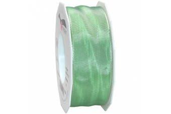 (Mint Green) - Morex Ribbon French Wired Lyon Fabric Ribbon, 3.8cm by 27-Yard
