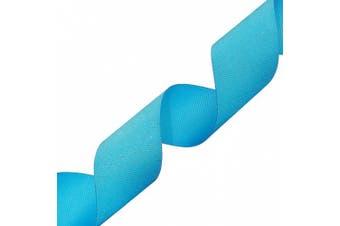 Morex Dazzle Glitter Grosgrain Ribbon, 3.8cm by 20-Yard, Turquoise