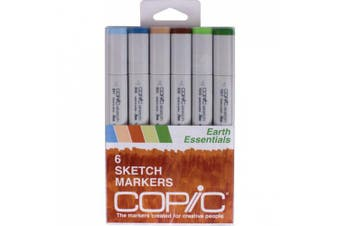 (Earth Essentials) - Copic Sketch Markers 6/Pkg
