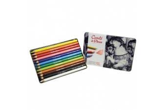 Conté à Paris Pastel Pencils with 12 Assorted Colours
