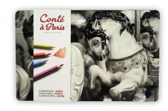 (Set of 24) - Conté à Paris Pastel Pencils with 24 Assorted Colours